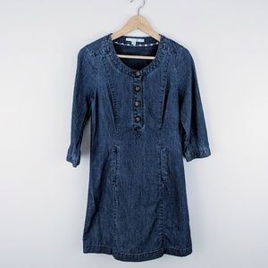 Boden 3/4 Sleeve Denim Mini Dress Size 2 WA326